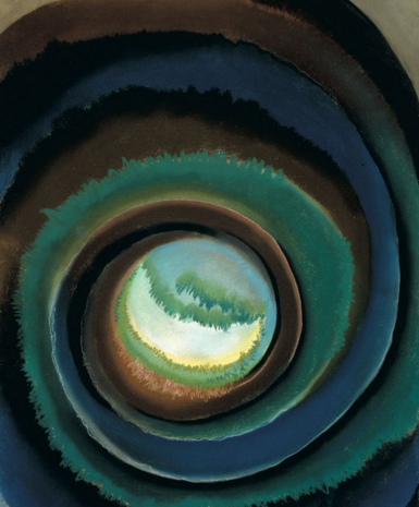 ond in the Woods, 1922. Pastel on paper, 24 x 18. Georgia O'Keeffe Museum