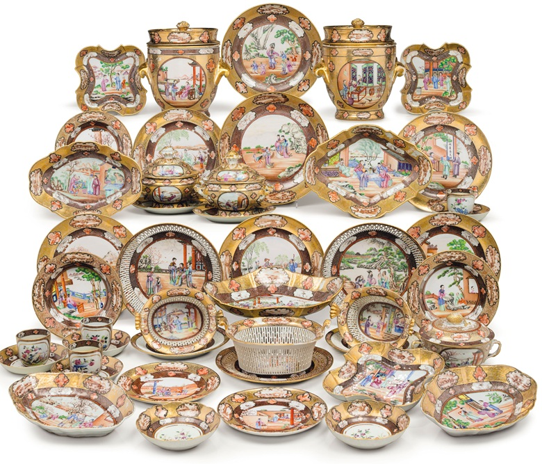 China Trade Rockefeller Pattern Porcelain from Christie's