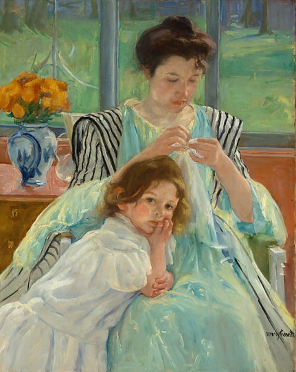 young-mother-sewing-cassatt